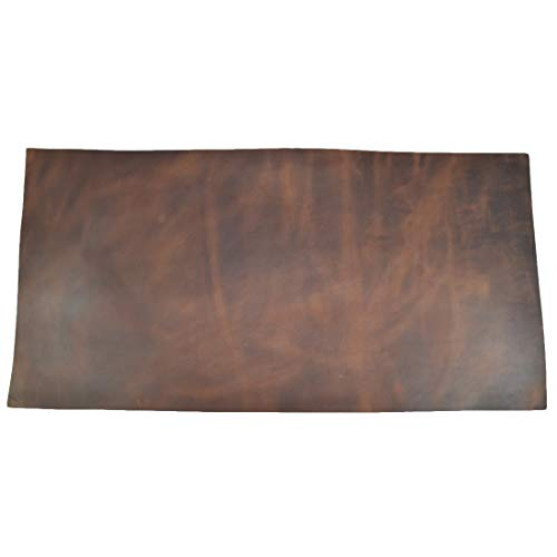 Rawhide Leather - Leather Square (12 x 24 in.) for Crafts/Tooling/Hobby Workshop, Medium Weight (1.8mm) by Hide & Drink :: Bourbon Brown