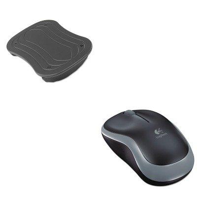 KITLOG910002225SAF2122BL - Value Kit - Safco Rock N Stop Adjustable Foot Rest (SAF2122BL) and LOGITECH, INC. M185 Wireless Mouse (LOG910002225)