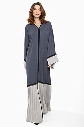 Nukhbaa Grey Casual Abaya For Women