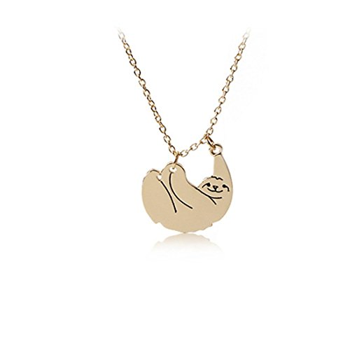 Gold Or Silver Sloth Necklace   Sloth Pendant   Sloth Jewelry   Three Toed Sloth  Gold