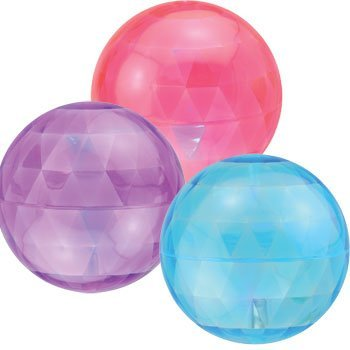 4-Inch Jumbo LIGHTS UP! Balls which spark light when they've been bounced! Frozen-Inspired Colors (3-Pack 1 of each color)]()