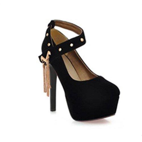 W&LM Sra Tacones altos Novia Casar Zapatos de boda Vacío De acuerdo Boda Zapatos de la dama de honor Boca rasa Zapatos individuales Purple