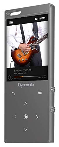 SAMVIX Dynamite MP3 Player 8GB with Bluetooth, Touch Buttons, Voice Recorder, Speaker, Kosher MP3 Players Without Radio, NO Video, NO Pictures (Silver)