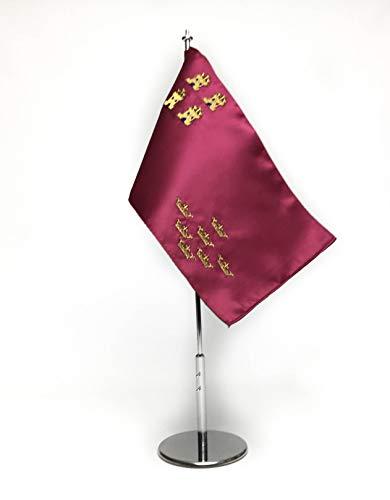 ABBE Global Bandera de Mesa Bordada de Murcia 15x25 y mas