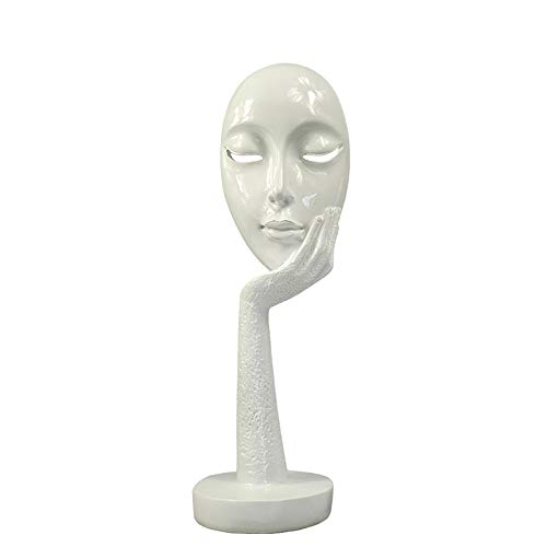 MSchunou European Creative Abstract Figure mask Decoration Home Decoration Living Room Office Study Porch Craft furnishings (Color : Style B, Size : Small)]()
