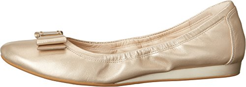 Tali Haan Ballet Gold Bow Soft Cole Women's Flat OC6qnB