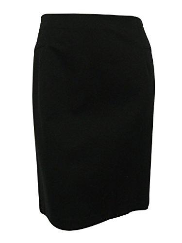 INC Womens Plus Ponte Slit Pencil Skirt Black 24W