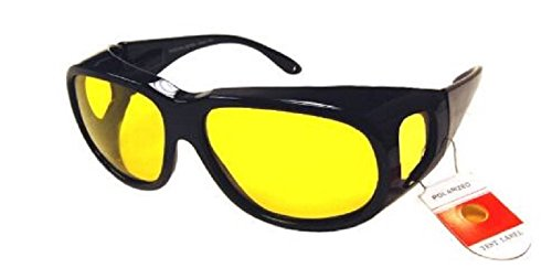 Polarized Night Driving Sunglasses Fitover - XLarge- - Sun Glasses Fitover