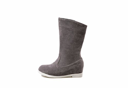 ladies Martin Autumn shoes and Suede winter big Boots children Women's Terry Shoes round boots Grey RFF fashion Fx4TS