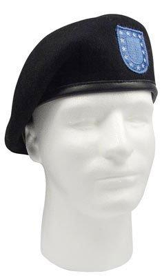 Rothco Inspection Official Flash Ready Beret, Black, 6.75