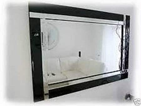 Chic Concept Large Modern Art Deco Rectangular Bevelled Glass Wall Mirrors Black 120 X 80 Cm Amazon Co Uk Kitchen Home