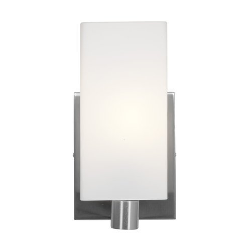 Access Lighting 50175-BS/OPL Archi?Wall and Vanity with Opal Glass Shade, Brushed Steel Finish by Access Lighting