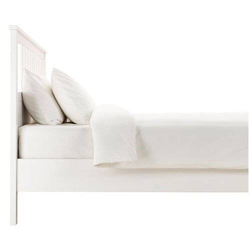 amazoncom ikea hemnes queen bed frame white wood kitchen dining