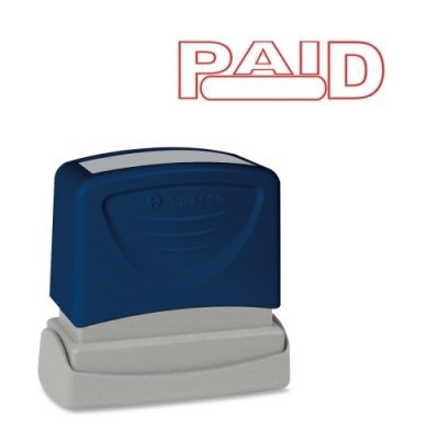 (Sparco Products 60022 Paid Title Stamp, 1-3/4