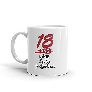 Mug Humour Anniversaire 18 Ans L Age De La Perfection Tasse En