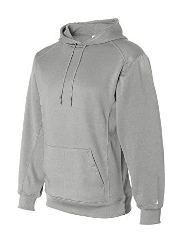 (Badger Sport - BT5 Moisture Management Hooded Sweatshirt - 1454 - Silver - L )