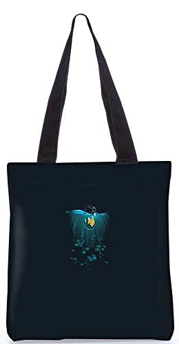 """Snoogg Goldfisch In Einer Schüssel Im Meer Tragetasche 13,5 X 15 In """"Shopping-Dienstprogramm Tragetasche Aus Polyester Canvas"""