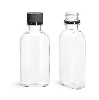 LeeMark 12 100ml Plastic Mini Empty Alcohol Party Favor Liquor Bottle Shots