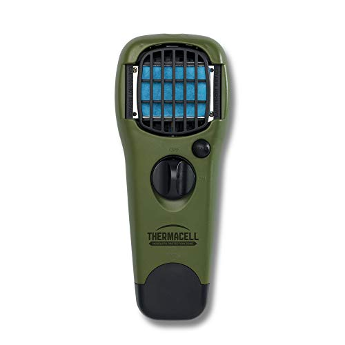 Thermacell Appliance - Thermacell MR150 Portable Mosquito Repeller, Olive Green; DEET-Free, Scent-Free Mosquito Repellent; 15 Foot Protection Zone with Fuel Cartridge and 3 Repellent Mats Provides 12 Hours of Relief