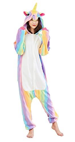 Adults Unicorn Cosplay Costume Halloween Onesies Pajamas Rainbow S -