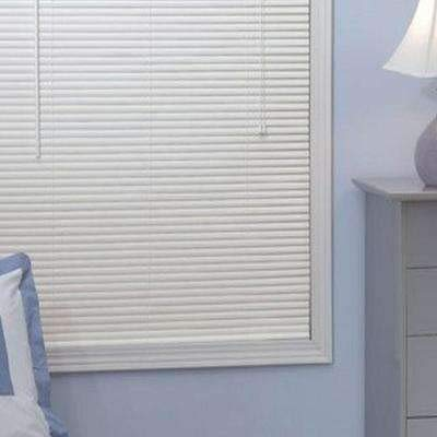 "ALL FOR YOU 1-inch Mini Blinds- Off White Color Cream White (28""x64"") (Please Read Warning About Children Safety)"