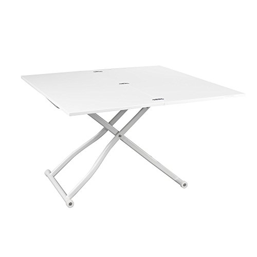 Up Down 2 Table Basse Transformable Blanc Alinea 120 0x75 0x120 0