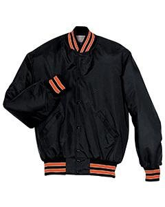 (Holloway Adult Heritage Player Jacket , Black|Orange, xxx-large )