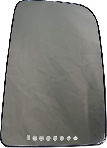 APDTY 67380 Replacement Upper Right Side View Mirror Glass With Heat Fits 2007-2009 Dodge Sprinter (Replaces 68010118AA)
