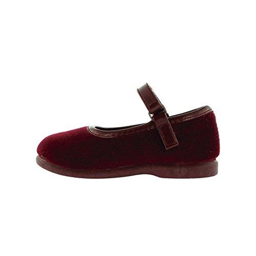 VICTORIA BALLERINA SAMT MIT KLETTVERSCHLUSS 02752 Kinder Schuhe Bordeauxrot