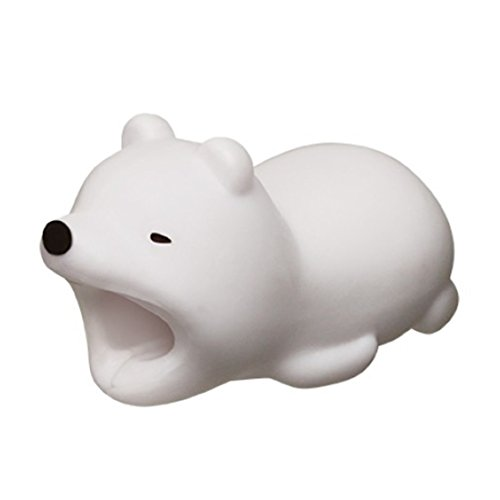 Animal Shapes Charger Cable Saver for Apple iPod iPhone iPad (Polar Bear)]()