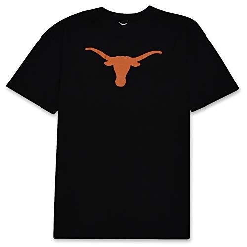 NCAA OFFICIAL GEAR Texas Longhorn Mens Short Sleeve Logo T-Shirt Black 4XT