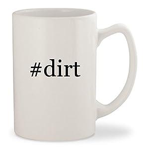 #dirt - White Hashtag 14oz Ceramic Statesman Coffee Mug Cup