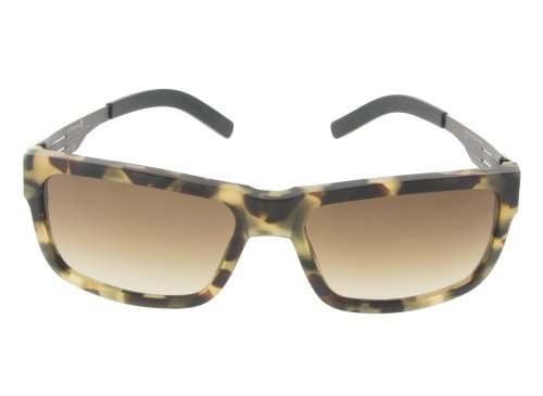 ic! Berlin Sunglasses Nameless 2012 Black/Matte Havana with Brown/Sand Nylon - Berlin Sunglasses Ic