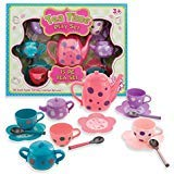 Kellisgift Tea Sets For Girls Tea Party 15 Piece For Pretend Play