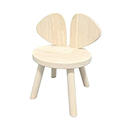 Amazon.com: Taburete infantil de madera maciza ~ silla ...
