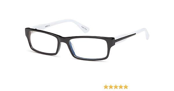5bebfadb7fa3 Amazon.com  Girls Prescription Eyeglasses Frames Size 52-16-140-30 in Two  Toned in Black White  Clothing
