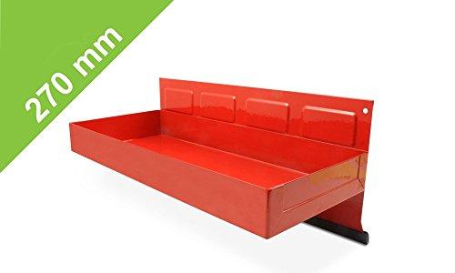 Magnetische Hängebox in Rot - 270mm für Küche, Garage, Gartenhaus oder Werkstatt