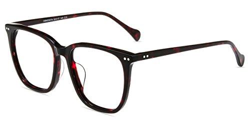Firmoo Blue Light Blocking Glasses Women Oversize Computer Gaming Glasses for Men Reduce Eyestrain Headache, Filter UV400 Glare, Anti Scratch Fatigue Lens Eyeglasses