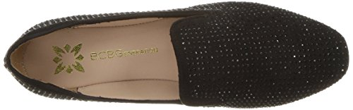 BCBG CRYS Loafer Women's Black Black MCRS Generation Flat Crystal Justine r1rAaqZ