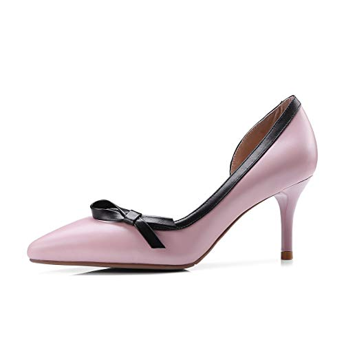 Women's Stiletto Toe Shoes High Shallow Pink Pointed Heels Mouth 44wHvx6q