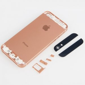 iphone 5 rose gold case protective back cover w logo for iphone 5 gold 17391