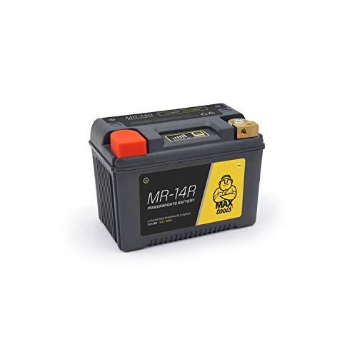Maxtools Lifepo4 12 V Lichte Batterij voor Motorfiets, Quad, Atv, met Versterkte Behuizing en Laadstatus Indicator Links…