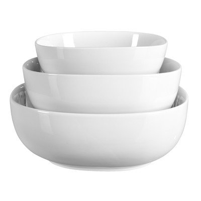 Serving 3 Piece Bowl (Porcelain 3 Piece Serving Bowl Set)