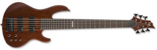 ESP LTD D-6 6 String Electric Bass Guitar, Natural Satin