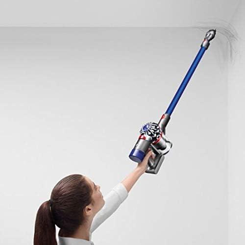 Dyson - V7 Fluffy Hardwood Cord-Free Stick Vacuum - Iron/Blue
