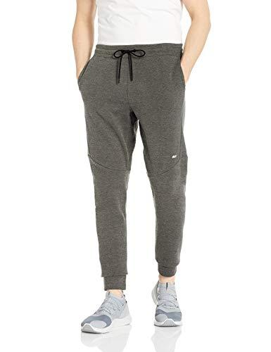 Amazon Essentials Men's Tech Fleece Jogger Pant, Dark Green Heather, X-Small