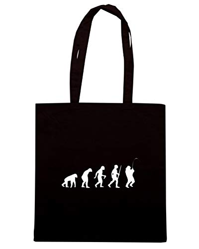 Speed Shirt Borsa Shopper Nera EVO0015 FISHING EVOLUTION HUMOR