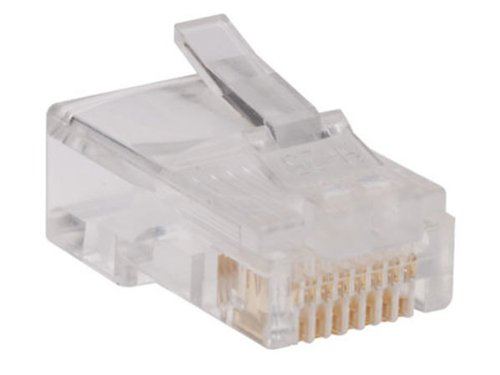 TRIPP LITE 100 Pack RJ45 Plugs Round Solid Stranded Conductor 4-Pair Cat5e Cable (N030-100)