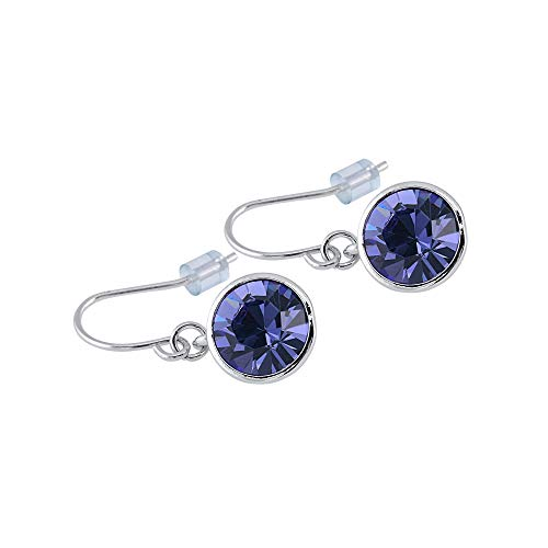 (UPSERA Drop Dangle Earrings Made with Swarovski Crystals Jewelry for Women Girls - Blue Tanzanite)