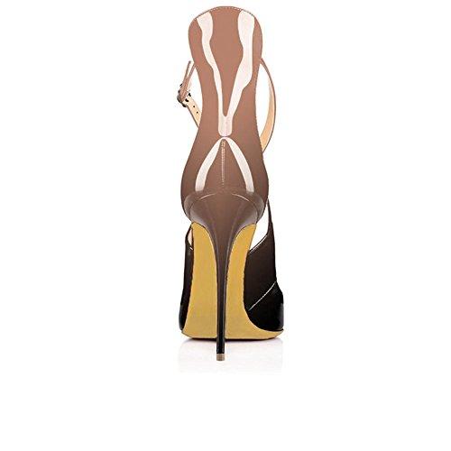Al Umexi Nero Sandali Tacco Punta Nudo Tacchi Cinghia Incrociano Donne Caviglia Con Stiletto Indicata Rx7qd6R1w